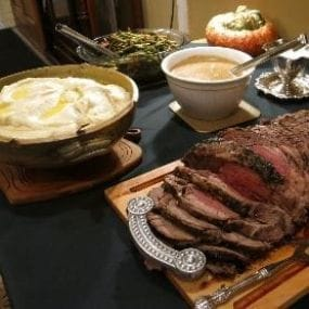 meals at the hunting lodge in the texas panhandle with all american outfitter