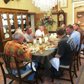 meals during your hunt at all american outfitter in texas