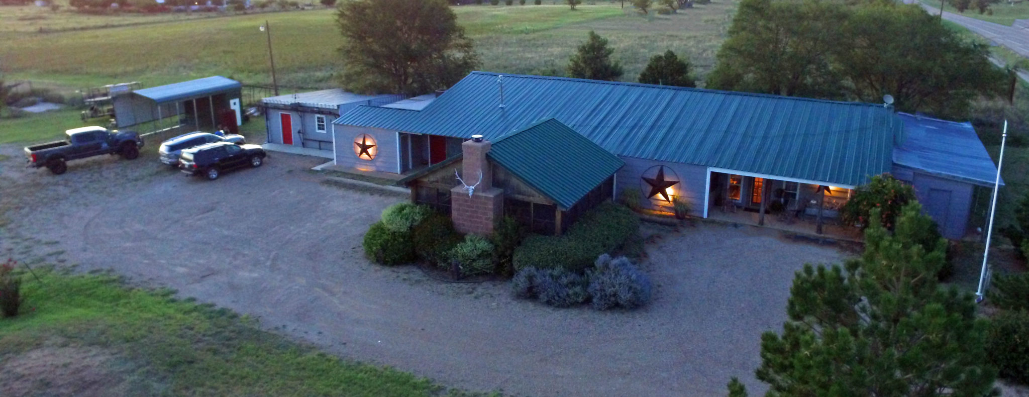 Hunting lodge at all american outfitter